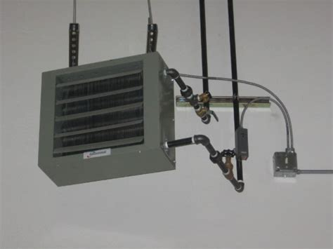 hydronic garage heater waste boiler and heater installations at auto