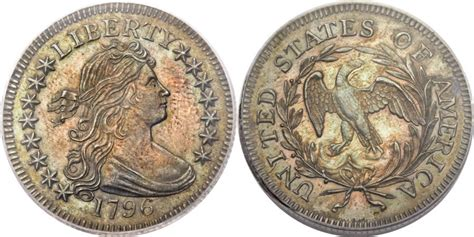 1796 Draped Bust Dollar - us 1796 draped bust small eagle quarter history coin