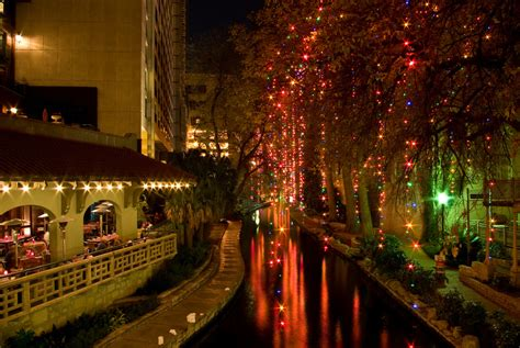 lighting san antonio tx riverwalk at christmas san antonio tx