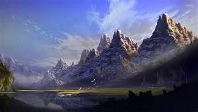 Mountain 4k Mountains Wallpapers Lake Fantasy Mysterious