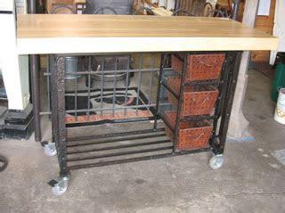 wrought iron kitchen island black salvage architectural antiques custom 1664
