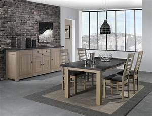 salle a manger whitney ateliers de langres meubles gibaud With salle À manger contemporaine avec meuble en verre