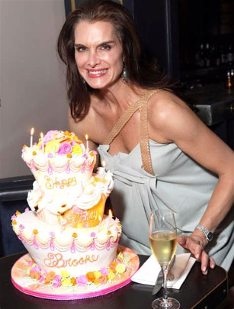 Celebrity Birthday Cakes  Brooke Shields' Birthday Cake