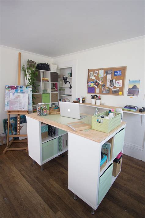 Ikea Hacks Arbeitszimmer by This Standing Desk On Casters That Lock With More Width