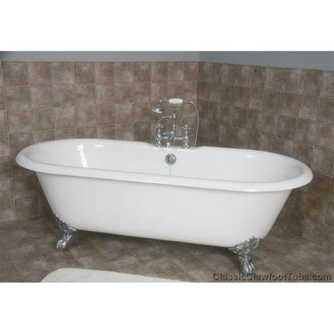 clawfoot tub 67 quot cast iron double ended clawfoot tub classic clawfoot tub