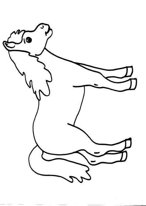 cavalli da colorare per bambini piccoli disegni per bambini animali in fattoria da colorare