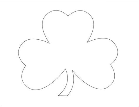 Shamrock Template Free by Small Shamrock Printable Template Dlhome