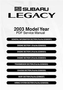 Subaru Legacy 2003 Complete Factory Service    Repair