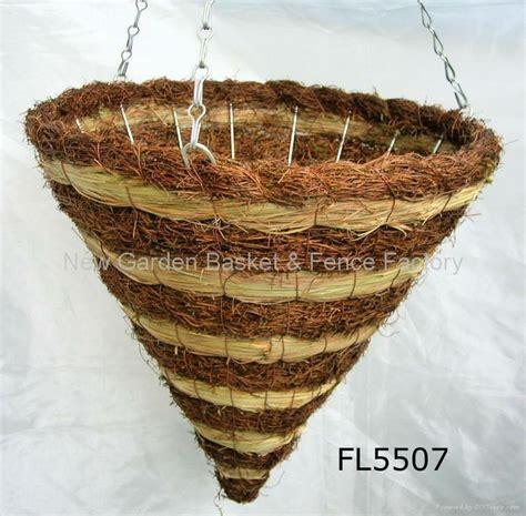 cone hanging basket rattan hanging basket hanging flower basket hanging planter fl5318 china