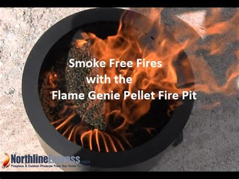 small  mighty flame genie pellet fire pit youtube