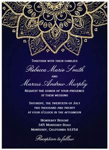 hindu indian wedding invitations eastern fusions With royal blue indian wedding invitations