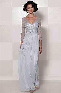 chiffon v neck 3 4 sleeve long slim lace mother of the With wedding dresses for the mother of the bride