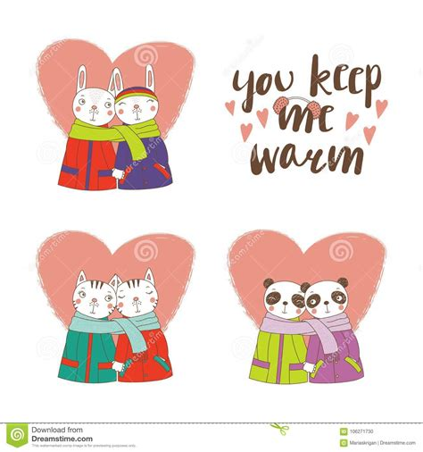 For those who love partaking in the gonewild submissions, but want to share photos of themselves together! Cute animal couples stock vector. Illustration of coat ...