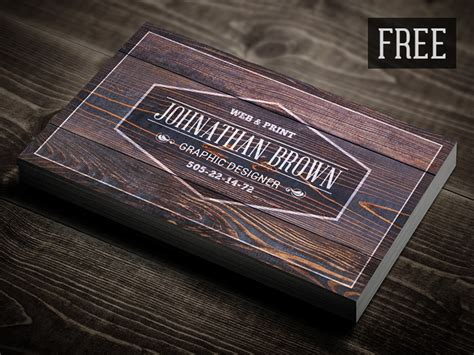 retro wooden business card  digital space  dribbble