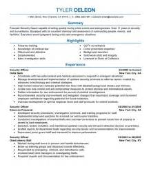 Security Officer Resume Examples Law Enforcement