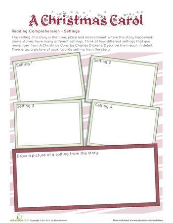 a carol setting worksheets language arts and