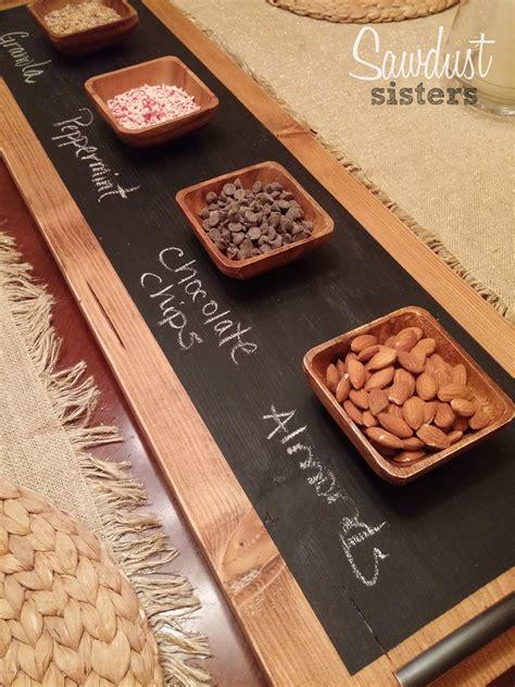diy chalkboard serving tray sawdust sisters