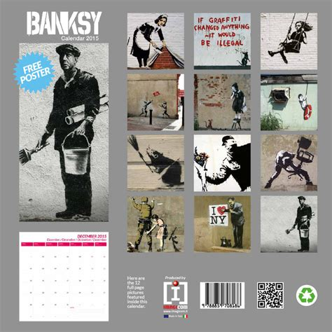 banksy calendarios