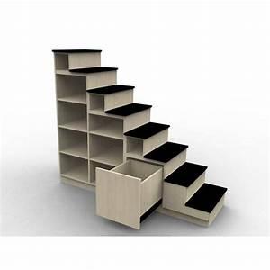Bibliothèque escalier pour mezzanine