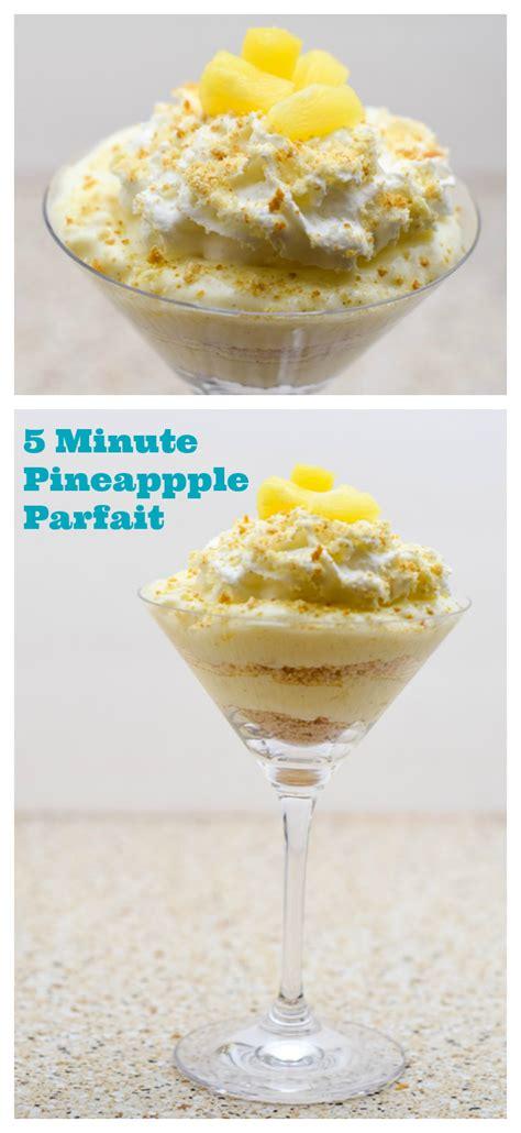 and easy dessert 5 minute pineapple parfait plus printable major hoff takes a