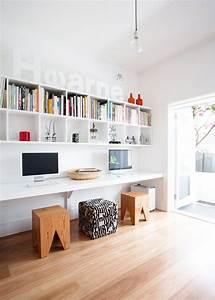 Idée Déco Bureau Maison : id es d cos pour am nager un bureau double ~ Zukunftsfamilie.com Idées de Décoration