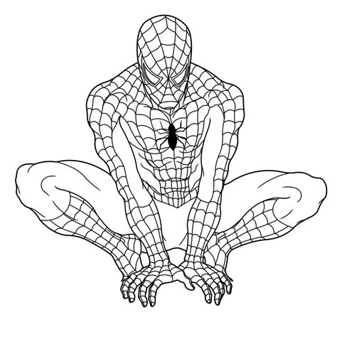 HD wallpapers spiderman coloring pages printable