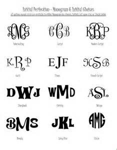 Monogram Fonts for Silhouette Cutter Vinyl