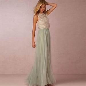 new fashion sage green bridesmaid dresses 2017 lace tulle With sage wedding dress