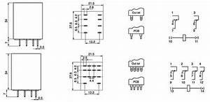 Ly2nj General Purpose Relay 8 Pins Pcb Relay Inductive Proximity Sensor Photoelectric Sensor