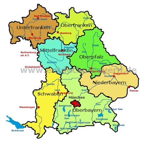 Bayern Sehenswürdigkeiten Karte