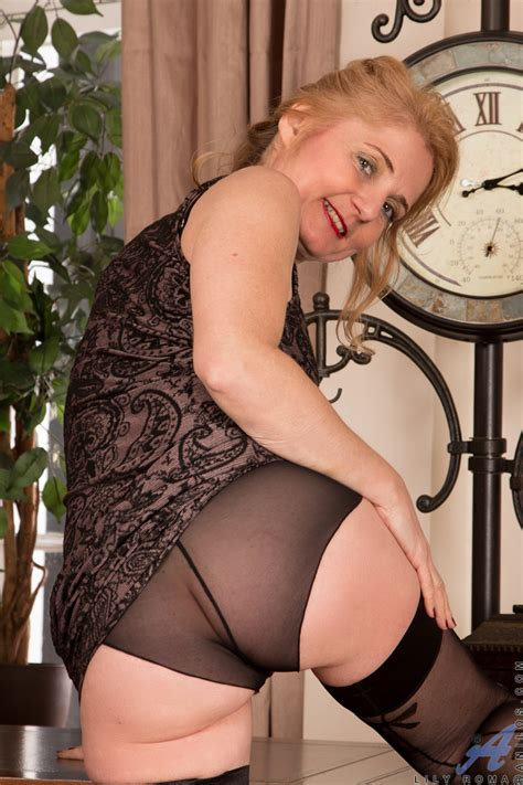 Gorgeous Granny Wears See Through Panties And Sexy