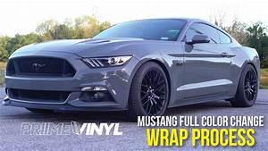 NARDO GREY S550 Mustang Vinyl Wrap! - YouTube