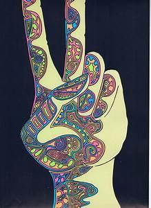 love art trippy hippie lsd vintage shrooms acid ...