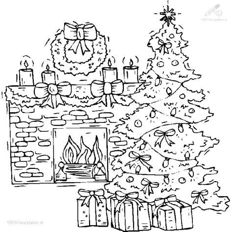 Kleurplaat Open Haard Schoorsteen by Kleurplaat Kerstboom Voor De Open Haard