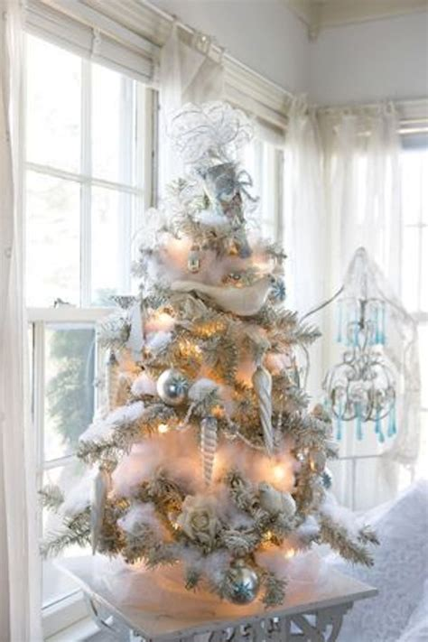 decoration sapin noel blanc winter 20 snowy trees happily after etc