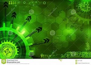 Abstract Digital Green Background With Arrows Stock ...