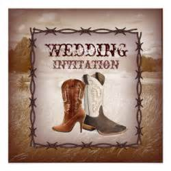 cowboy boots western country wedding invitation 5 25 quot square invitation card zazzle - Cowboy Wedding Invitations