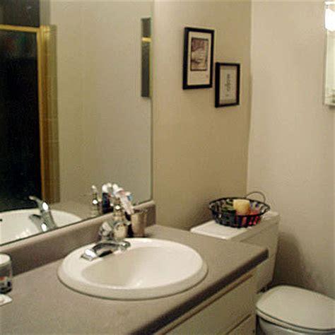 modern budget bathroom renovation project before photo