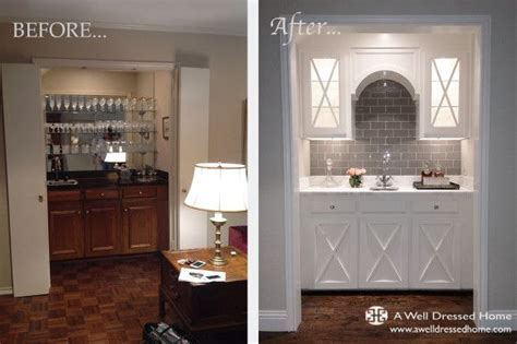 Old wet bar before and after   Construction   Pinterest