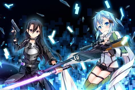 anime sword art  asada shino wallpapers hd