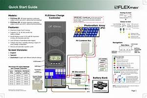 Outback Power Systems Flexmax 80 Quick Start Guide User