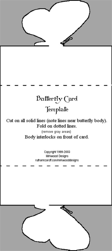 mirkwood designs butterfly card template