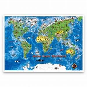 Weltkarte Kontinente Kinder : meine bunte weltkarte kinderweltkarte landkarten portofrei bei b ~ A.2002-acura-tl-radio.info Haus und Dekorationen