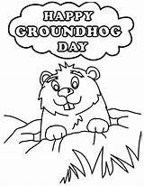 Groundhog Coloring Pages Printable Hog Ground Happy Sheets Sheet Printables Clipart Colouring Template Drawing Niagara Falls Very Shadow Playful Disimpan sketch template