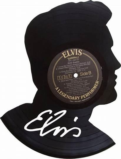 Vinyl Record Elvis Silhouette Crafts Records Past