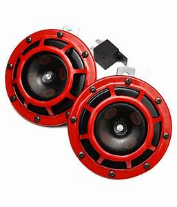 Hella - Powerful Loud Stylish Red Grill Horn For Car And Bike  Set Of 2   Buy Hella
