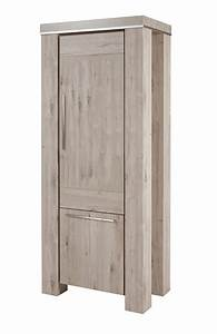 colonne 1 porte 1 tiroir droite arena chene blanchi alu With porte d entrée alu avec salle de bain chene blanchi