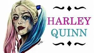 Harley Quinn (Suicide Squad) digital drawing time-lapse ...