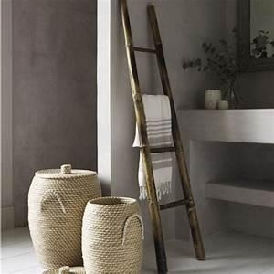 Echelle Decorative Casa : bamboo ladder towel rack for the home pinterest ~ Teatrodelosmanantiales.com Idées de Décoration