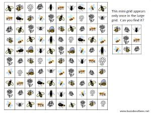 bee themed activity sheets
